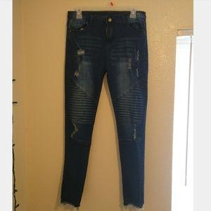 Denim - Distressed, textured jeans